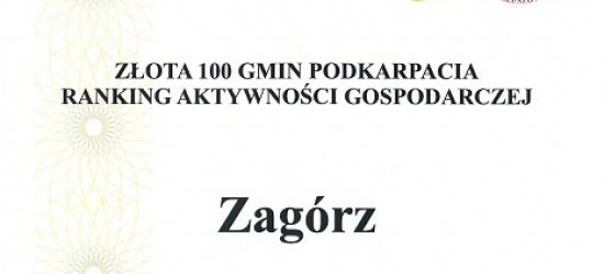Zagórz wśród najlepszych samorządów Podkarpacia!