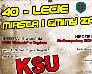 Zespół KSU gwiazdą 40-lecia Miasta i Gminy Zagórz