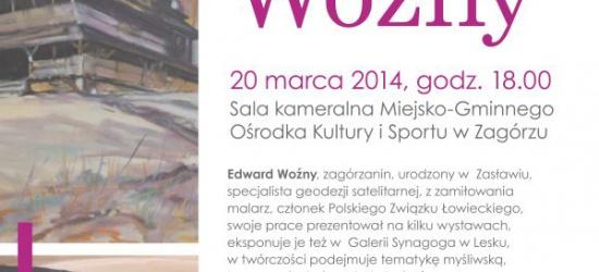Wernisaż prac i spotkanie z Edwardem Woźny